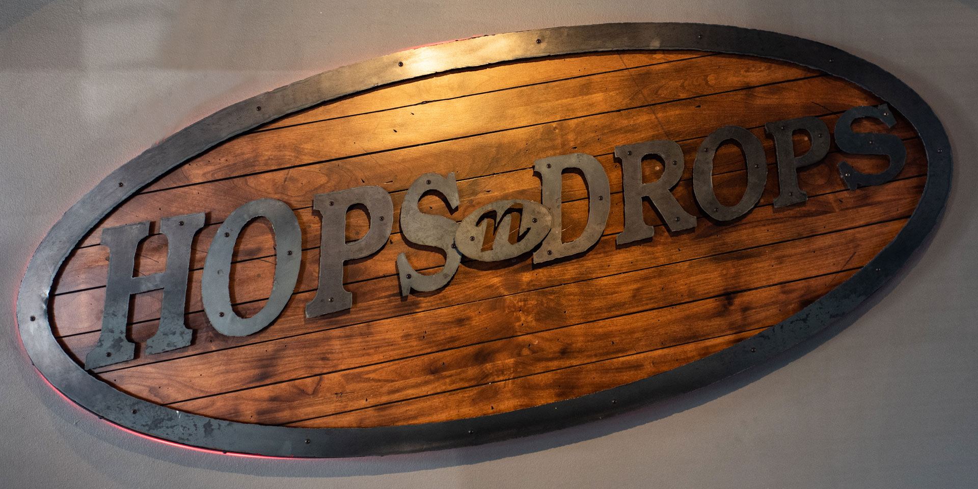 Hops N Drops Sign